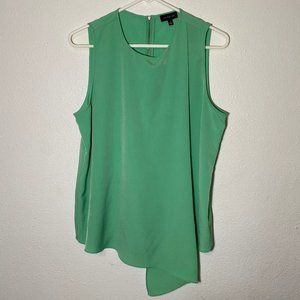 The Limited Womens Large Green Sleeveless Blouse